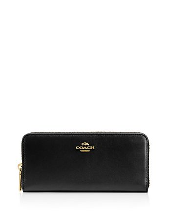 64968910c COACH Slim Accordion Zip Wallet in Smooth Leather | Bloomingdale's