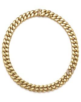 """Roberto Coin - Roberto Coin 18K Yellow Gold Collar Necklace with Diamonds, 16"""""""