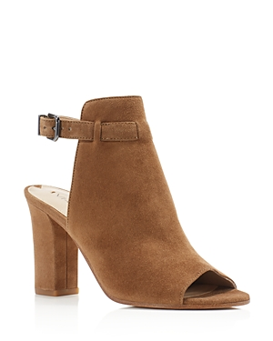 Via Spiga Fabrizie Open Toe High Heel Booties