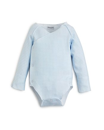 Absorba - Boys' Long Sleeve Gingham Bodysuit - Baby
