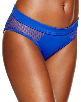 DKNY - Mesh Effect Splice Hipster Bikini Bottom