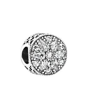 PANDORA - Sterling Silver & Cubic Zirconia Radiant Bloom Charm