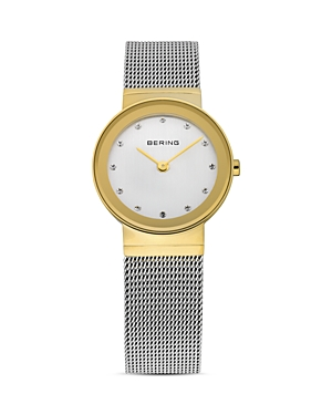 Bering CLASSIC TWO-TONE MESH STRAP WATCH, 26MM