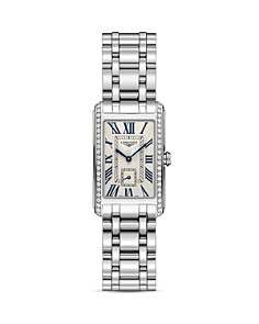 Longines Stainless Steel Watch with Diamonds, 37mm - Bloomingdale's_0