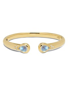 Temple St. Clair 18K Yellow Gold Classic Hinge Bracelet with Royal Blue Moonstone and Diamonds - Bloomingdale's_0