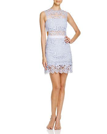 AQUA - Lace Illusion Mini Dress - 100% Exclusive