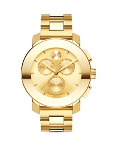 Movado BOLD - BOLD Yellow Gold Ion-Plated Chronograph with Sunray Dial, 38mm