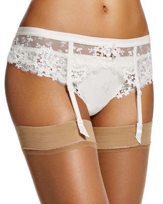 Wish Lace Suspenders Garter Belt in Ivory