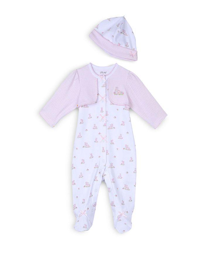 Little Me - Girls' Baby Bunnies Footie & Hat Set - Baby