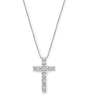 Diamond Cross Pendant Necklace in 14K White Gold, 1.0 ct. t.w. - 100% Exclusive
