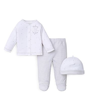 Little Me - Unisex Welcome to the World Hat, Shirt & Pants Set - Baby