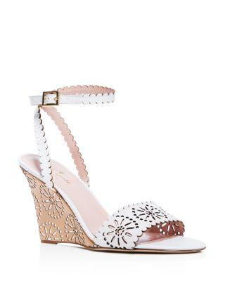 Kate Spade New York Laser Cut Ankle Strap Sandals