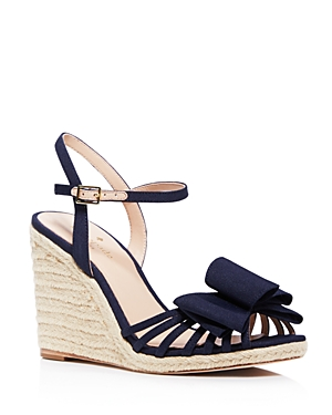 kate spade new york Biana Bow Espadrille Wedge Sandals