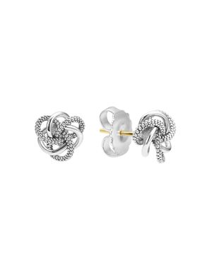 Lagos Sterling Silver Love Knot Stud Earrings