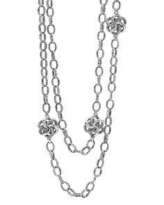 LAGOS - Sterling Silver Love Knot Link Necklace, 34""