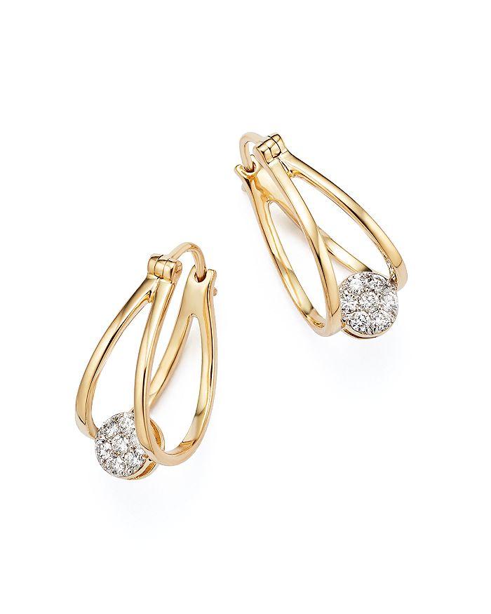 Bloomingdale's - Diamond Huggie Hoop Earrings in 14K Yellow Gold, .25 ct. t.w.- 100% Exclusive