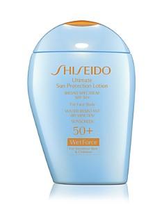 Shiseido Ultimate Sun Protection Lotion for Sensitive Skin & Children Broad Spectrum SPF 50+ WetForce - Bloomingdale's_0