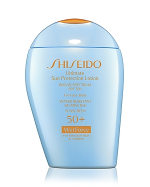 Shiseido Ultimate Sun Protection Lotion for Sensitive Skin  Children Broad Spectrum Spf 50 WetForce