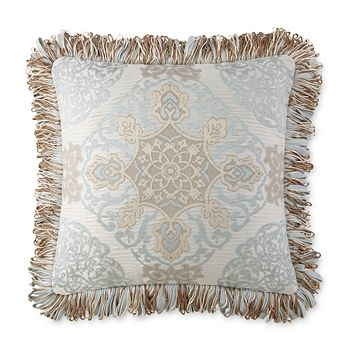 """Waterford - Jonet Embroidered Decorative Pillow, 18"""" x 18"""""""