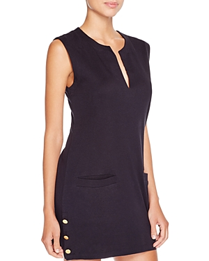 Lauren Ralph Lauren Button Sleeveless Tunic Swim Cover-Up