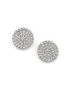 Bloomingdale's - Diamond Disc Stud Earrings in 14K White Gold, 1.0 ct. t.w. - 100% Exclusive