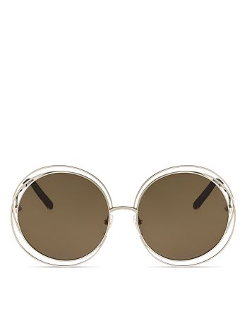 Chloé - Women's Carlina Oversized Round Sunglasses, 62mm
