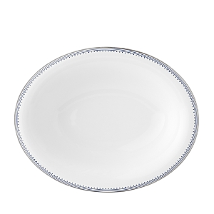 Vera Wang Wedgwood Grosgrain Indigo Open Oval Vegetable Plate