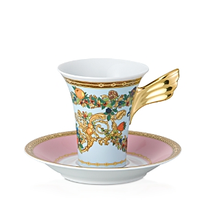 Rosenthal Meets Versace Butterfly Garden After Dinner Cup