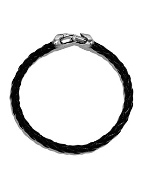 David Yurman - Armory Leather Bracelet in Black
