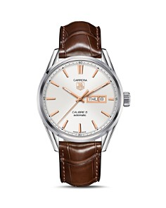 TAG Heuer - Carrera Calibre 5 Stainless Steel and Alligator Strap Watch, 41mm