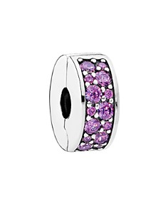 PANDORA Clip - Sterling Silver & Cubic Zirconia Purple Elegance, Moments Collection - Bloomingdale's_0
