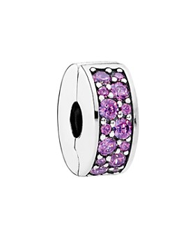 Pandora - Clip - Sterling Silver & Cubic Zirconia Purple Elegance, Moments Collection