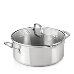 Calphalon Classic Stainless Steel Strain-and-Pour 5-Quart Dutch Oven - Bloomingdale's Registry_0
