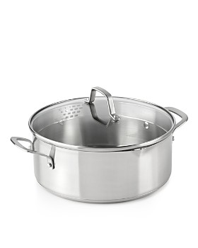 Calphalon - Classic Stainless Steel Strain-and-Pour 5-Quart Dutch Oven