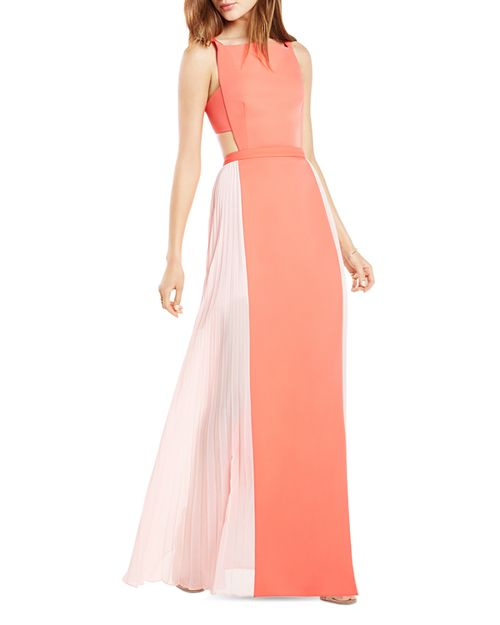 BCBGMAXAZRIA Square Neck Color Block Gown - 100% Exclusive ...