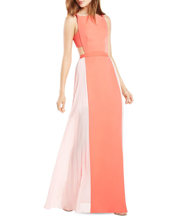 BCBGMAXAZRIA Square Neck Color Block Gown - 100% Exclusive ...