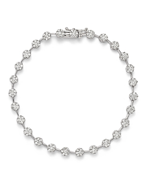 Diamond Pave Flower Bracelet in 14K White Gold, 2.0 ct. t.w. - 100% Exclusive