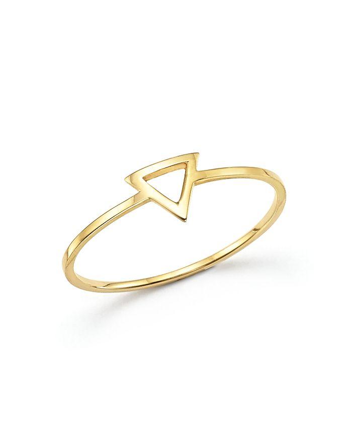 MATEO - 14K Yellow Gold Triangle Ring