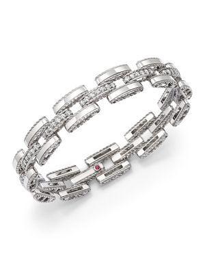 Roberto Coin 18K White Gold Retro Diamond Link Bracelet