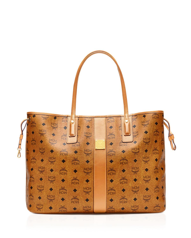 MCM Mcm Orange Leather Chain Shoulder Bag