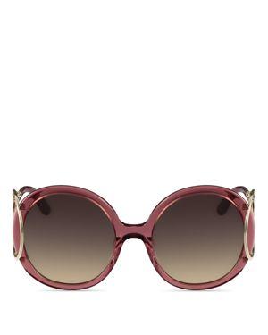 Chloe Jackson Round Sunglasses, 56mm