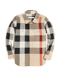 Burberry Boys' Check Print Button-Down Shirt - Little Kid, Big Kid - Bloomingdale's_0