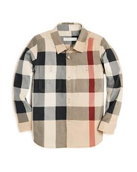 Burberry - Boys' Check Print Button-Down Shirt - Little Kid, Big Kid