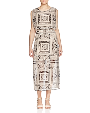 Finity Geometric Print Dress
