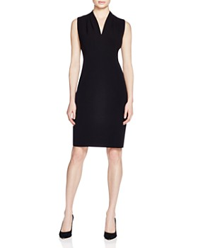 T Tahari - Tonya Pleat-Shoulder Dress