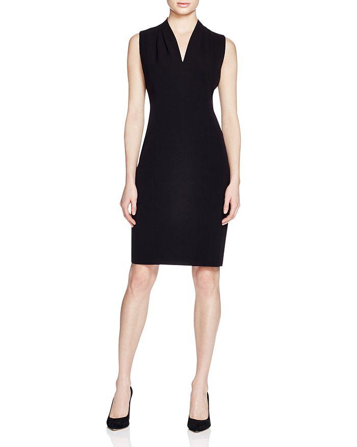 T Tahari - Tonya Pleat-Shoulder Dress