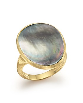 Marco Bicego - 18K Yellow Gold Lunaria Ring with Black Mother-of-Pearl