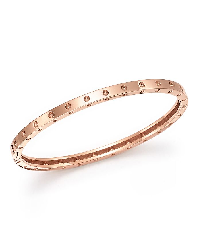 Roberto Coin - 18K Gold Symphony Dotted Hinged Bracelet