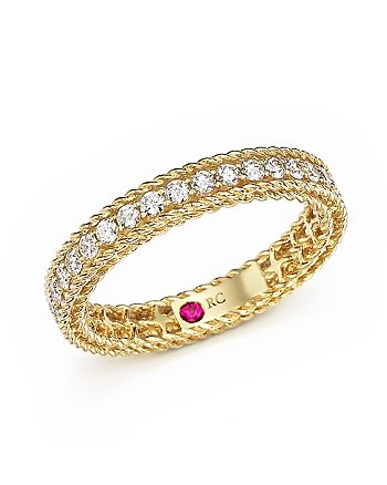 Roberto Coin - 18K Yellow Gold Symphony Braided Ring with Diamonds