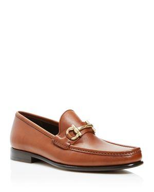 Salvatore Ferragamo Textured Calfskin Leather Loafers